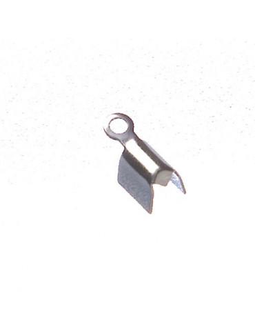 Embouts métal argenté 7mm x20