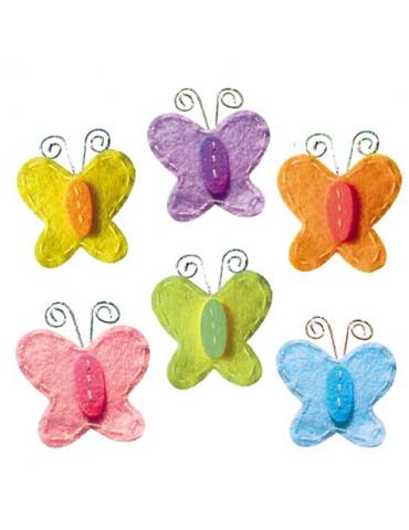 Papillons bicolore feutrine...