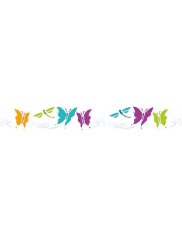 Pochoir frise papillons...