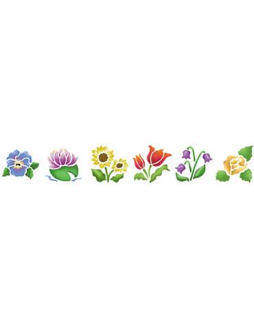 Pochoirs enfant - Fleurs