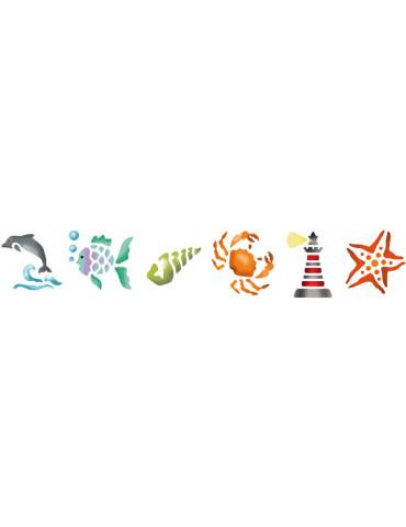 Pochoirs enfant - La mer
