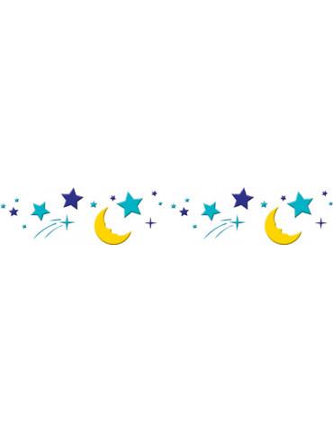 Pochoir frise nuit étoilée...