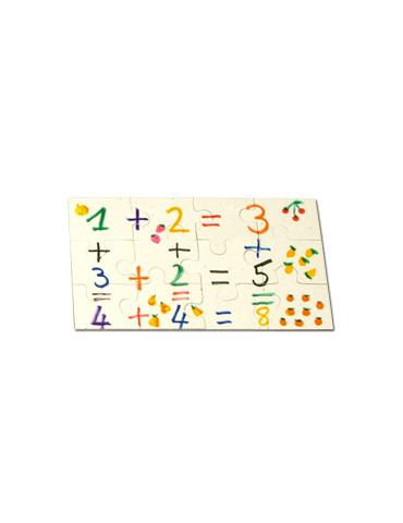 Puzzle carton 12 pièces -...