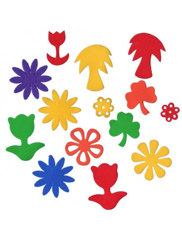 Fleurs en mousse - 200 pièces