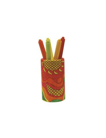 Pot à crayons en bois rond