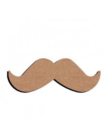 Gomille - Support bois Moustache 10cm