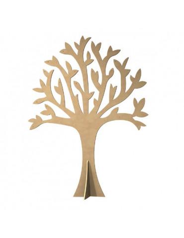 Gomille - Arbre percé + pied en bois 30cm