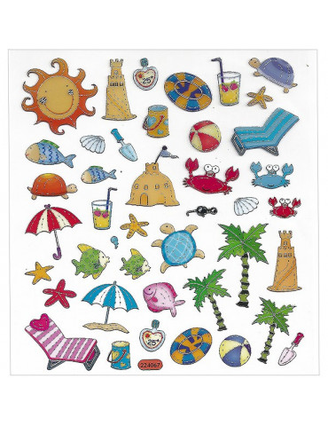 Gommettes stickers Plage x43
