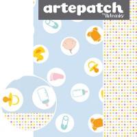 Artepatch - Losanges bleu 40x50cm - 2 feuilles