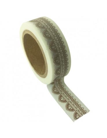 Masking tape - blanc Dentelle 15mm