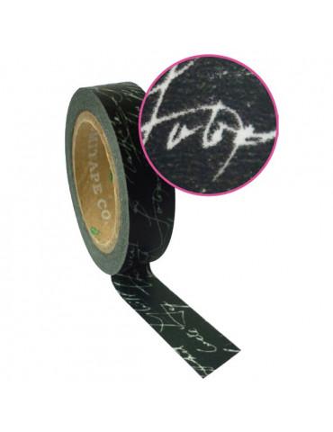 Masking tape - Noir dentelle 15mm