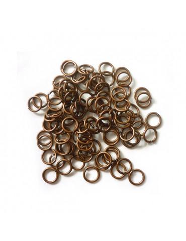Anneaux brisés bronze 6mm x100