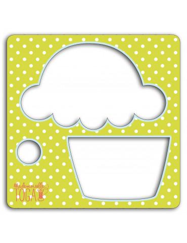 Mademoiselle-TOGA Pochoir tissu - Cupcake - Mademoiselle Toga