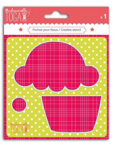 Pochoir tissu - Cupcake -...