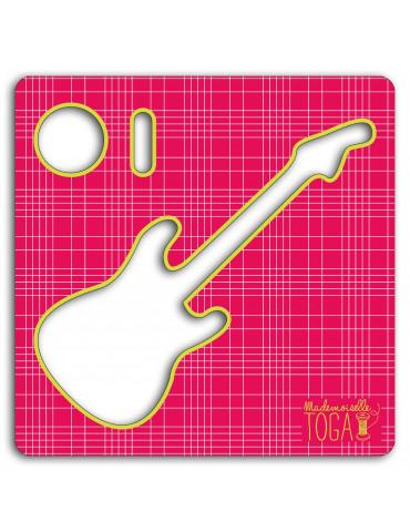 Mademoiselle-TOGA Pochoir tissu - Guitare - Mademoiselle Toga