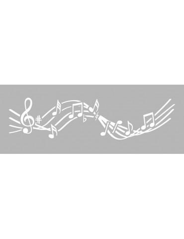 Pochoir frise musique 15x40cm