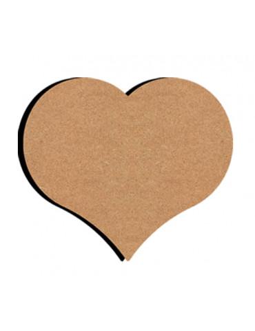 Support bois - Coeur 10cm