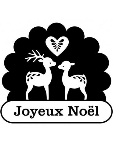Tampon bois F - Renne joyeux