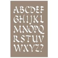 Pochoir Lettre Alphabet Chinois 15x20cm Artemio