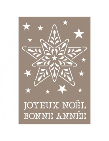 Pochoir Etoile Joyeux Noel 10x15cm - Artemio