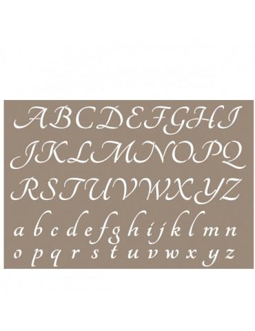 Pochoir Alphabet Pure 21x29,7cm - Artemio