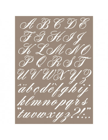 Pochoir Alphabet Calligraphie 29,7x42 cm - Artemio