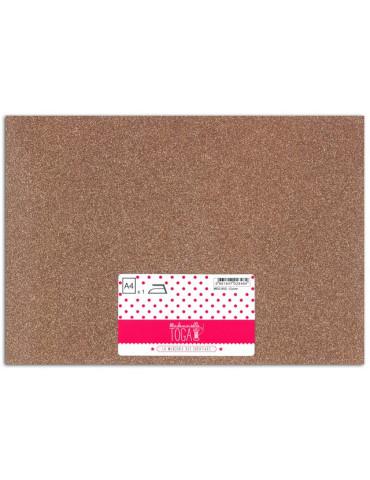 Tissu thermocollant - Glitter cuivre - Mlle Toga