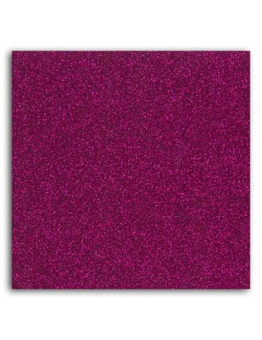 Tissu thermocollant - Glitter fuchsia - Mlle Toga