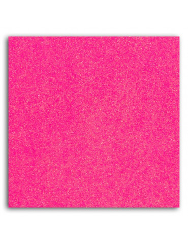 Tissu thermocollant - Glitter rose fluo - Mlle Toga