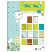 Bloc Deco 15x20cm Volière - Toga - 28 feuilles (14 designs x2)