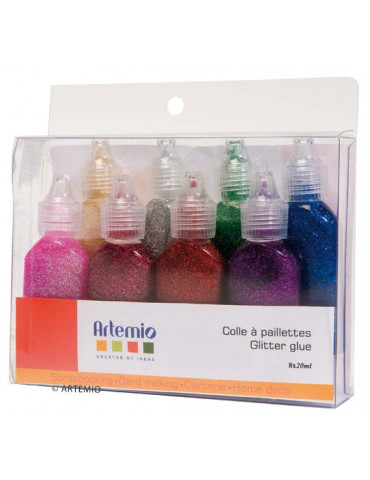 Colle paillettes 20ml x8