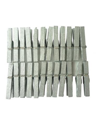 Pinces à linge argent 30mm x24