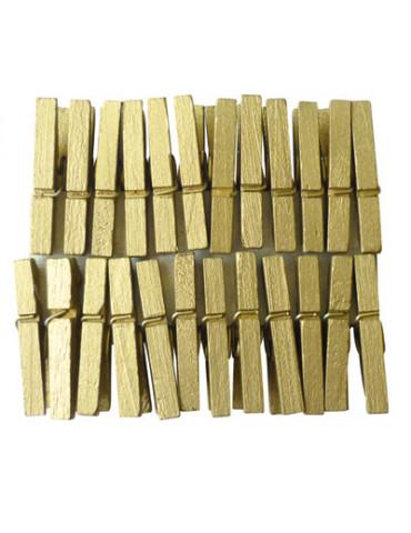 Pinces à linge dorées 30mm x24