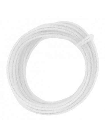 Fil chenille Blanc 8mm - rouleau 5m