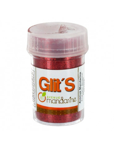 Paillettes Glit's Rouge 14g - Avenue Mandarine