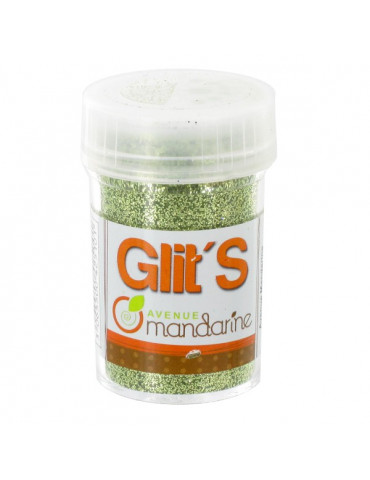 Paillettes Glit's Vert 14g - Avenue Mandarine
