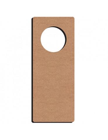 Gomille - Plaque poignée de porte bois 28x11 cm