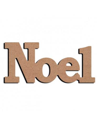 Gomille - Support bois à poser - mot NOEL 23cm