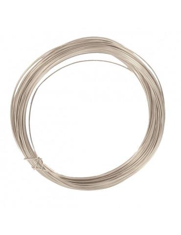 Fil métallique Argent - 0,4mm x10m