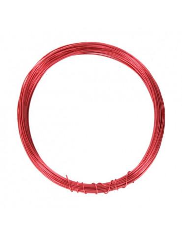 Fil métallique Rouge - 0,4mm x10m