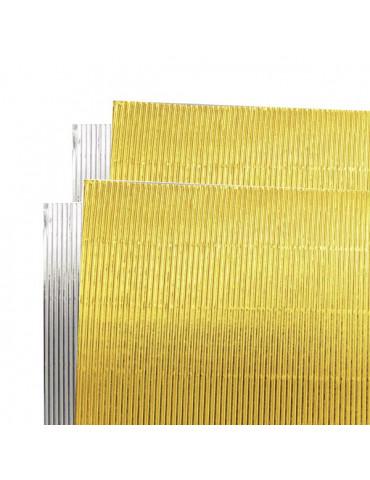 Carton ondulé métalisé 25x35cm - Or et Argent