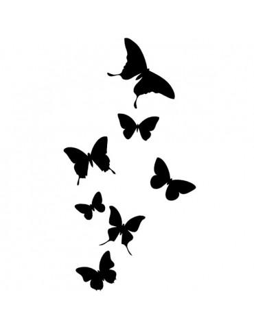 Tampon bois E - Envol Papillons