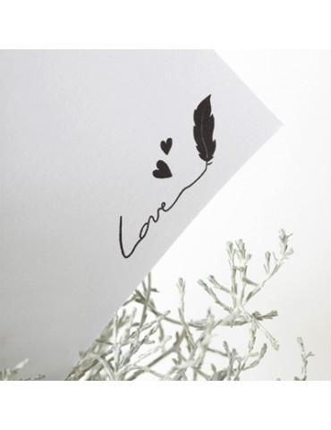 Tampon bois C - Love