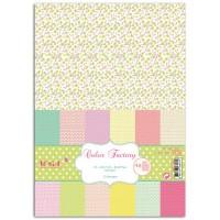 TOGA - Color Factory - 48 feuilles scrapbooking Fleurs - Pois