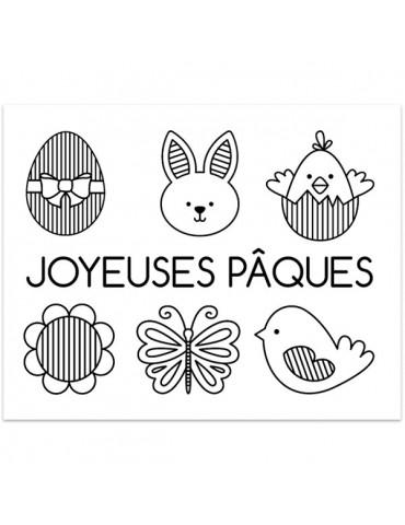 Tampons transparents - Joyeuses Pâques - 7x9 cm