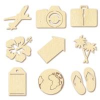 Mini silhouettes bois - Voyage - Artemio