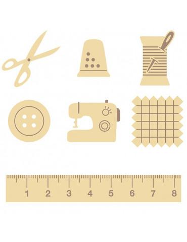 Mini silhouettes bois - Couture - Artemio
