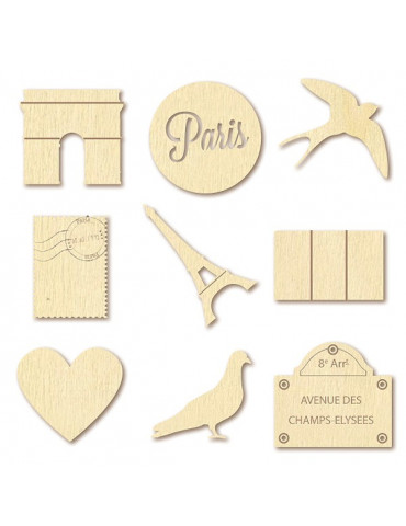 Mini silhouettes bois - Paris - Artemio