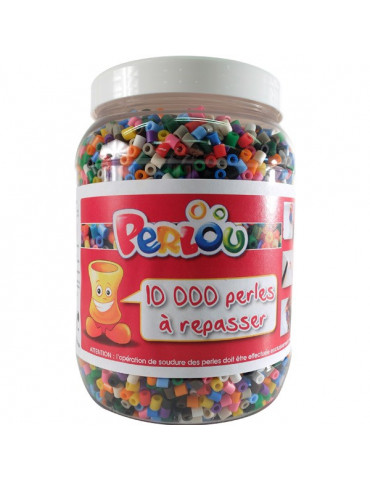 Baril 10 000 perles à repasser PERLOU