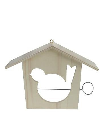 Mangeoire pour oiseaux en bois - 18x21cm